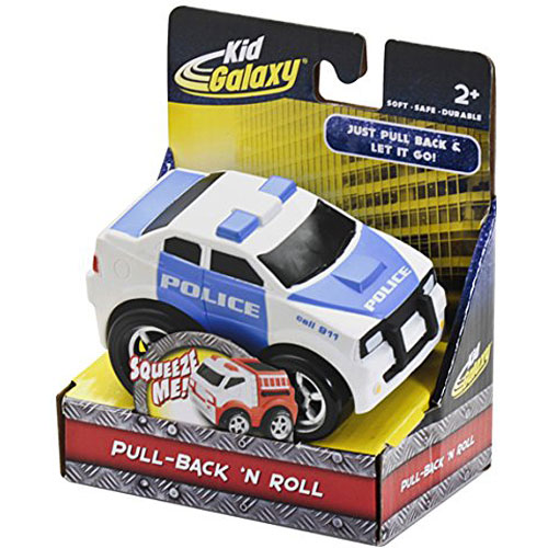 (KID GALAXY) SOFT BODY PULL BACK POLICE CAR